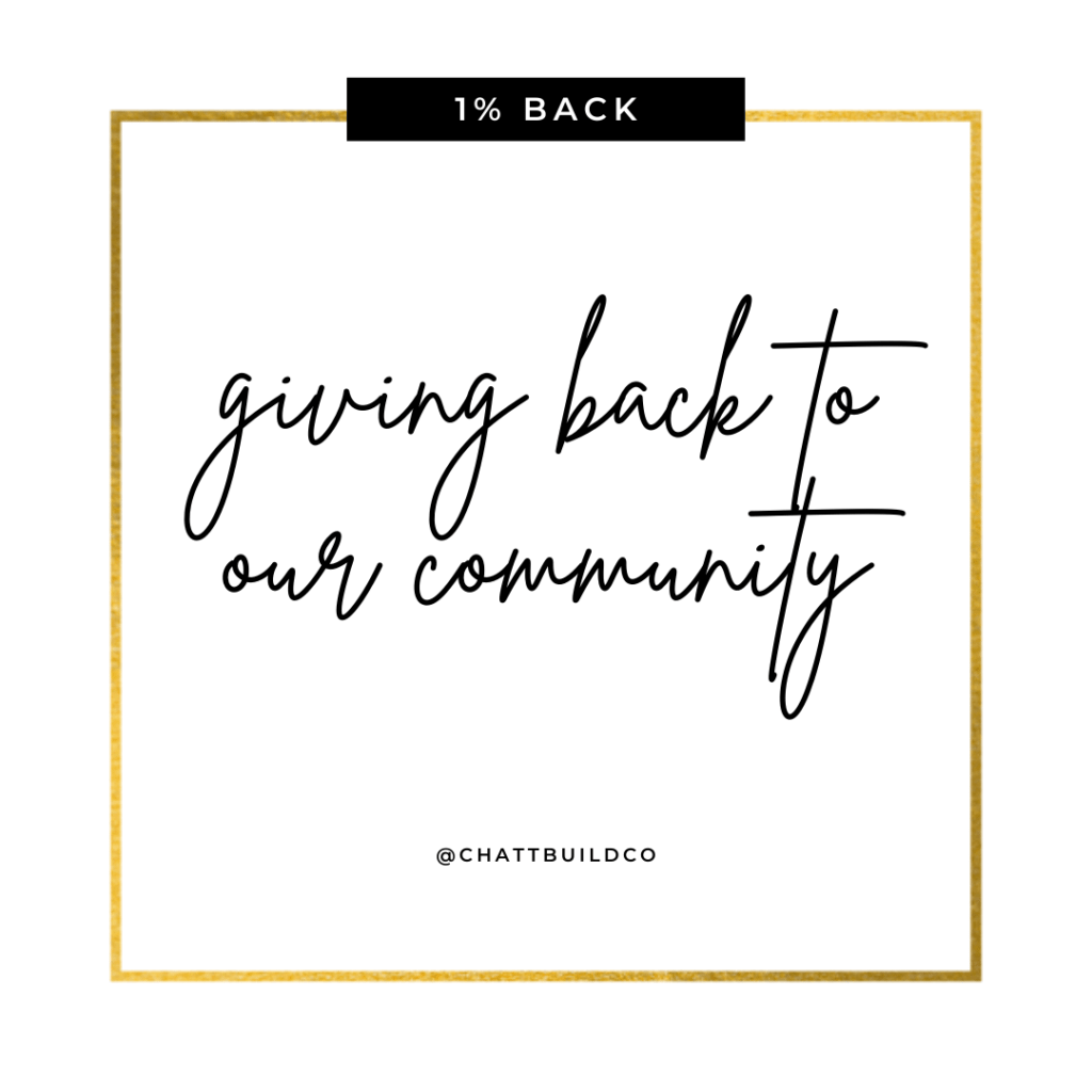 giving back to our community
